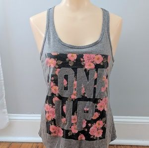"""Chin Up Apparel """"Tone Up"""" Racerback Floral Tank"""
